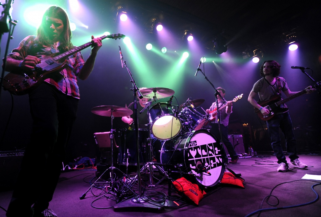 SAN FRANCISCO, CA - FEBRUARY 24: (L - R) Spence Koehler, Shannon Koehler, Avi Vinocur, and Aaron Mort of The Stones Foxes perform at The Independent as part of the 2011 Noise Pop Festival on February 24, 2011 in San Francisco, California. (Photo by Tim Mosenfelder/Getty Images)