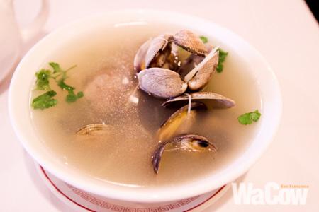 薑絲蛤蜊湯1