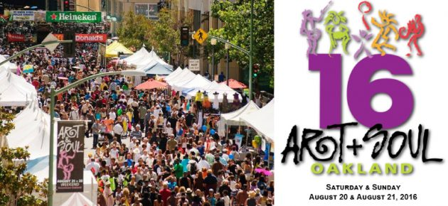 Oakland Art + Soul Festival 屋崙最大型的藝術音樂節 (8/20 – 8/21)