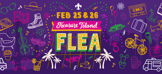 Treasure Island Flea Mardi Gras Celebration 跳蚤市場慶狂歡! (2/25-2/26)