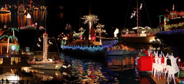 Lighted Boat Parade – Fisherman's Wharf SF 漁人碼頭燈船遊行 (12/15)
